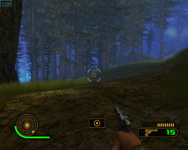 In-game screen of the game Cabela's Dangerous Hunts 2 on Sony Playstation 2