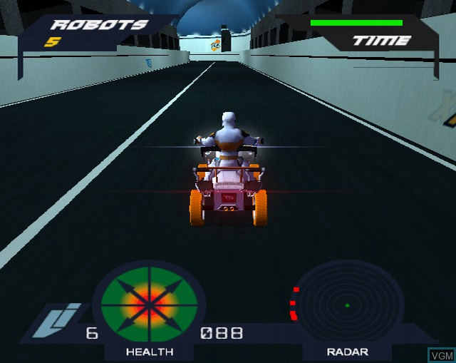 In-game screen of the game Action Man A.T.O.M. - Alpha Teens on Machines on Sony Playstation 2