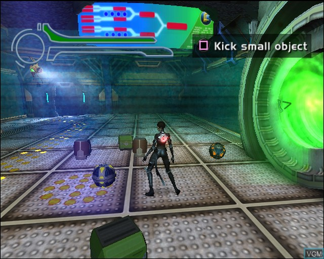 In-game screen of the game Aeon Flux on Sony Playstation 2
