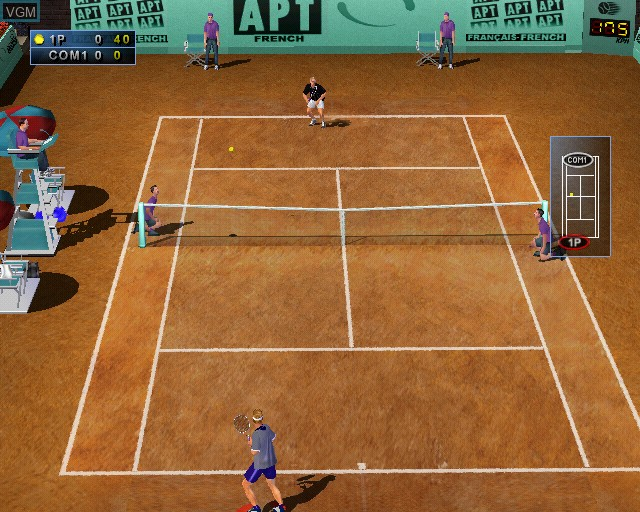 In-game screen of the game Agassi Tennis Generation on Sony Playstation 2