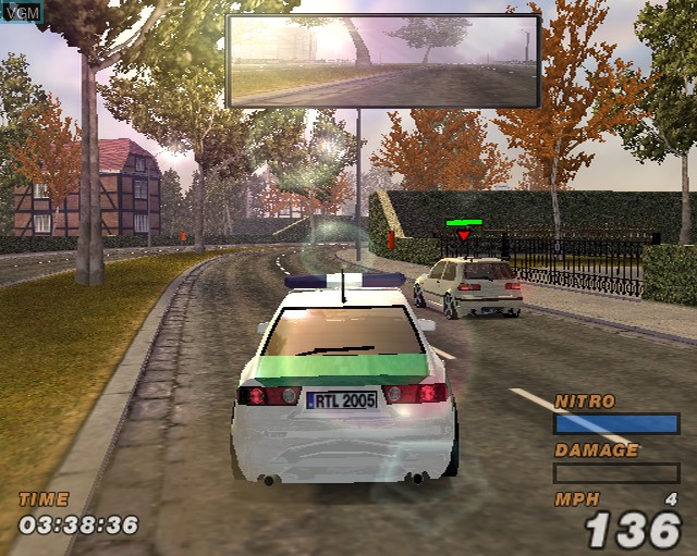 In-game screen of the game Alarm for Cobra 11 Vol. 2 - Hot Pursuit on Sony Playstation 2