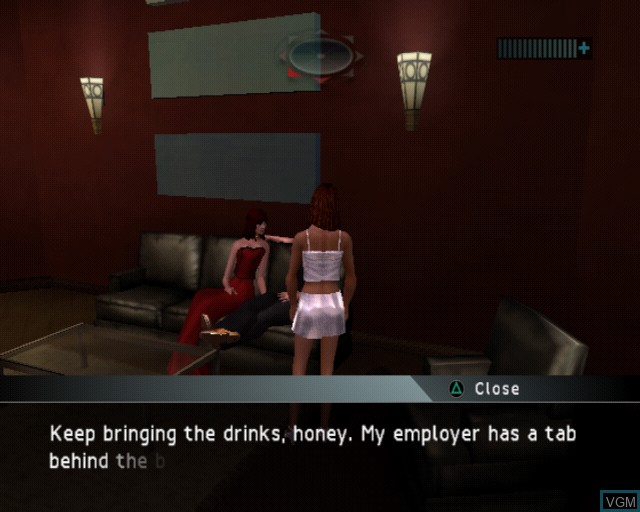In-game screen of the game Alias on Sony Playstation 2