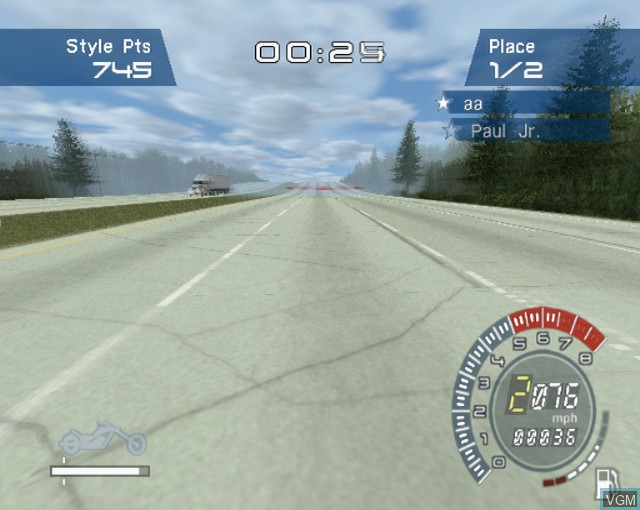 In-game screen of the game American Chopper on Sony Playstation 2