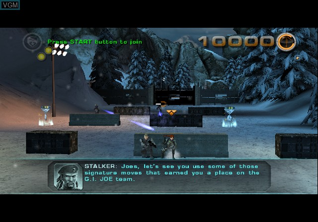 In-game screen of the game G.I. Joe - The Rise of Cobra on Sony Playstation 2