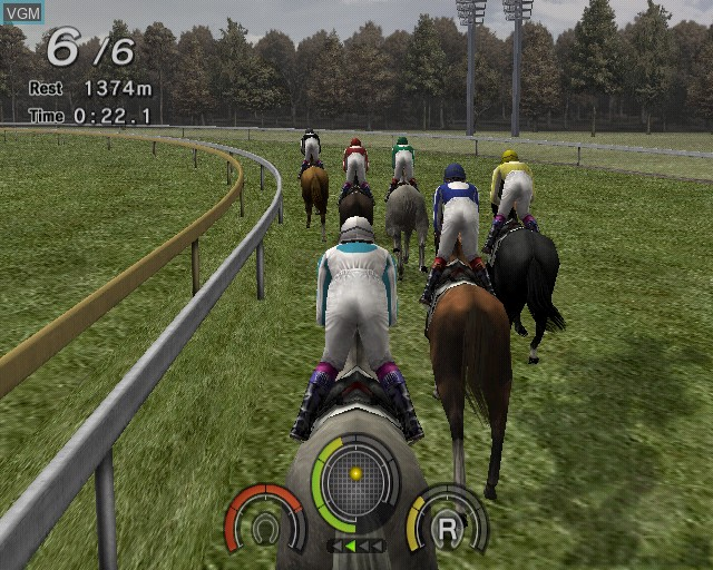 In-game screen of the game G1 Jockey 4 on Sony Playstation 2