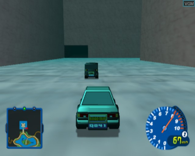 In-game screen of the game Gadget Racers on Sony Playstation 2