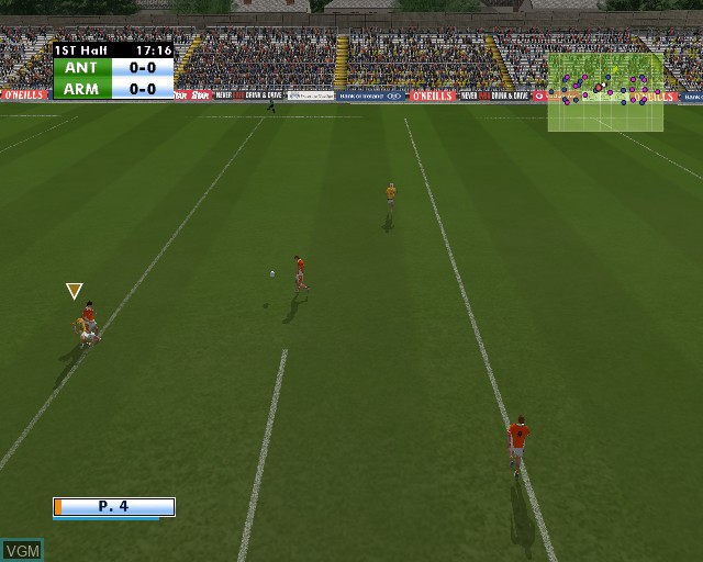 In-game screen of the game Gaelic Games - Football on Sony Playstation 2