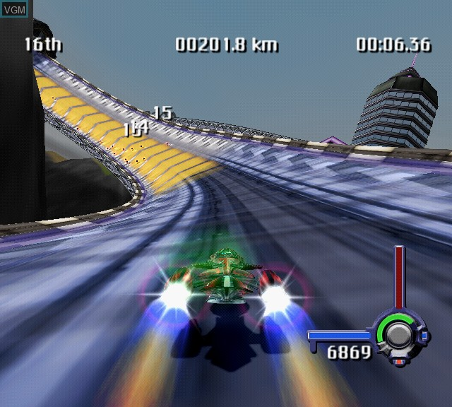 In-game screen of the game G-Surfers on Sony Playstation 2