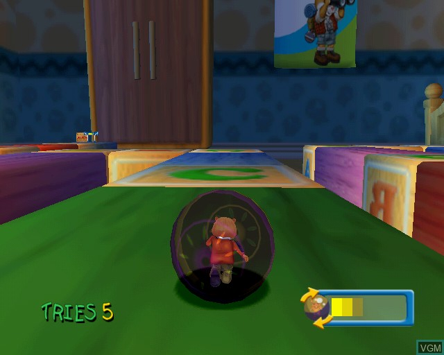 In-game screen of the game Habitrail Hamster Ball on Sony Playstation 2