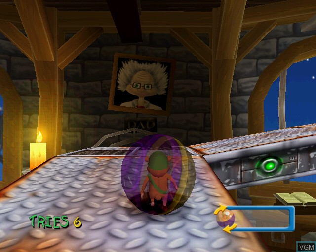 In-game screen of the game Hamster Heroes on Sony Playstation 2