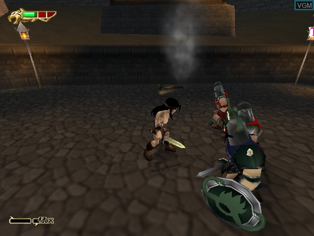 In-game screen of the game Kaan - Barbarian's Blade on Sony Playstation 2