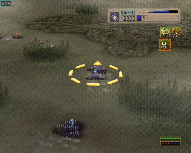 In-game screen of the game Kessen on Sony Playstation 2