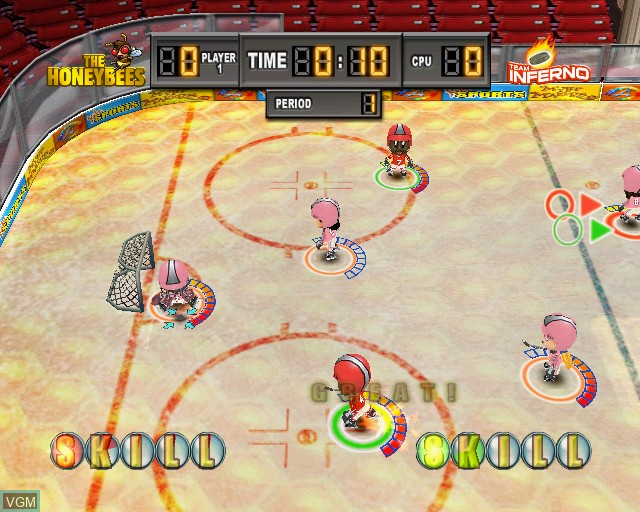 In-game screen of the game Kidz Sports Ice Hockey on Sony Playstation 2