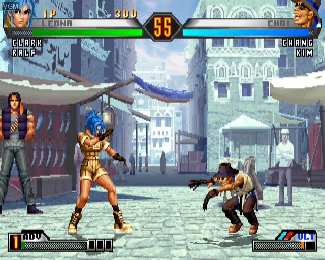 In-game screen of the game King of Fighters '98 Ultimate Match, The on Sony Playstation 2
