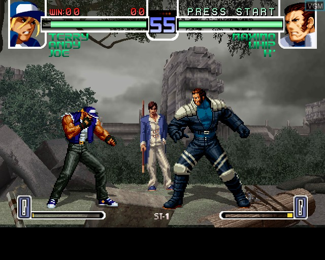 In-game screen of the game King of Fighters 2002, The on Sony Playstation 2