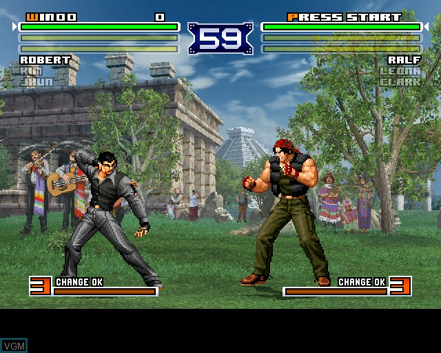In-game screen of the game King of Fighters 2003, The on Sony Playstation 2