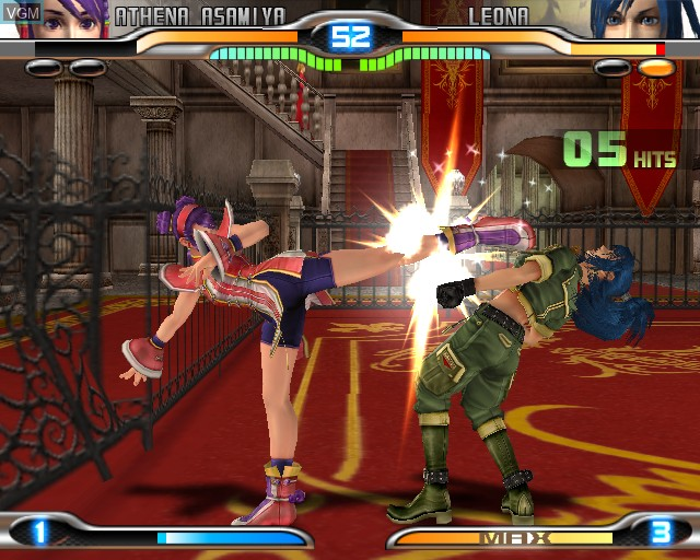 In-game screen of the game King of Fighters - Maximum Impact 2 on Sony Playstation 2
