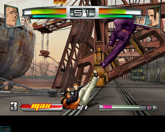 In-game screen of the game King of Fighters NeoWave, The on Sony Playstation 2