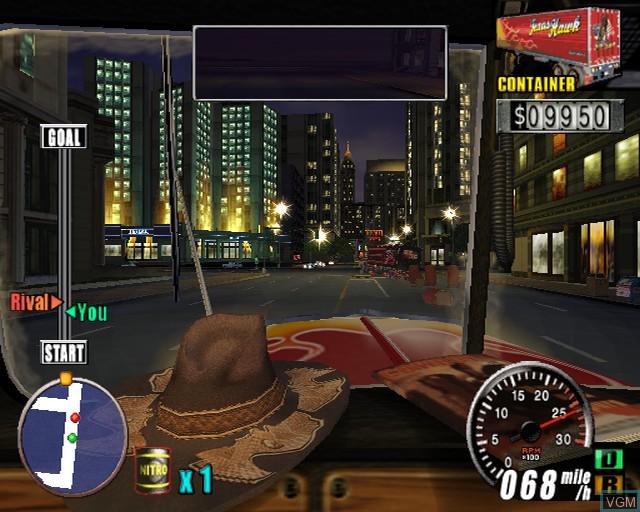In-game screen of the game King of Route 66, The on Sony Playstation 2