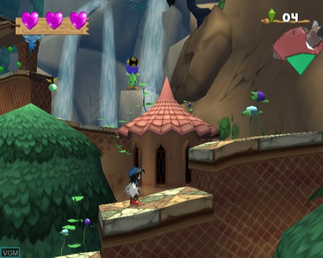In-game screen of the game Klonoa 2 - Lunatea's Veil on Sony Playstation 2