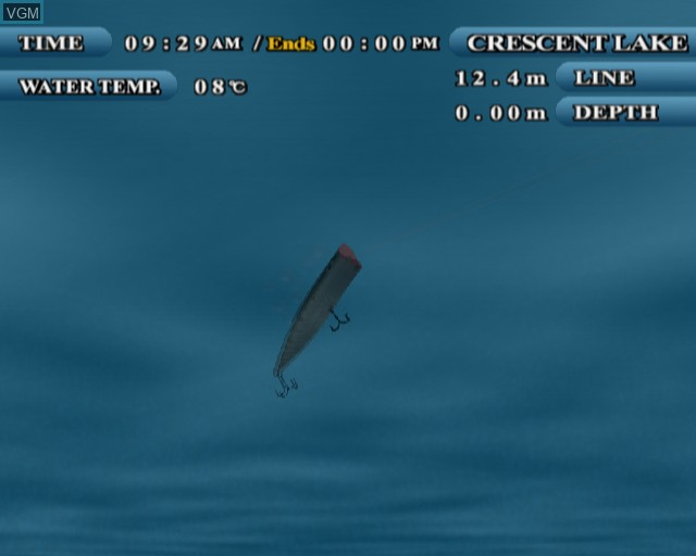 In-game screen of the game Lake Masters EX on Sony Playstation 2