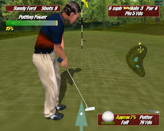 In-game screen of the game Leaderboard Golf on Sony Playstation 2