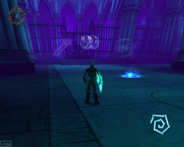 In-game screen of the game Soul Reaver 2 on Sony Playstation 2