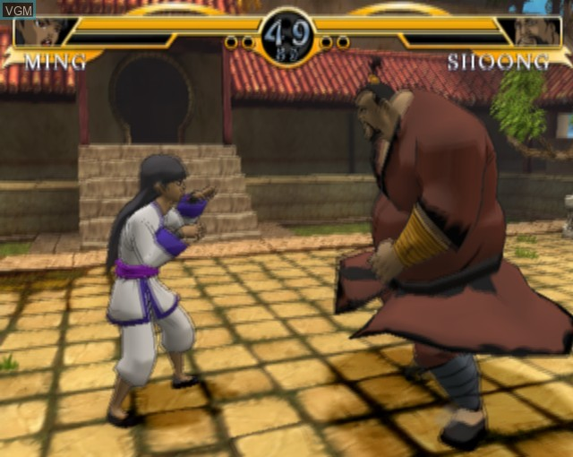 In-game screen of the game Legend of the Dragon on Sony Playstation 2