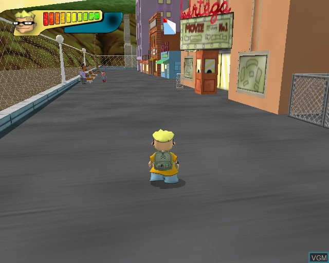 In-game screen of the game Rocket Power - Beach Bandits on Sony Playstation 2