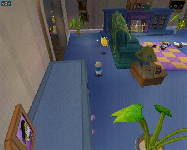 In-game screen of the game Rugrats - Royal Ransom on Sony Playstation 2