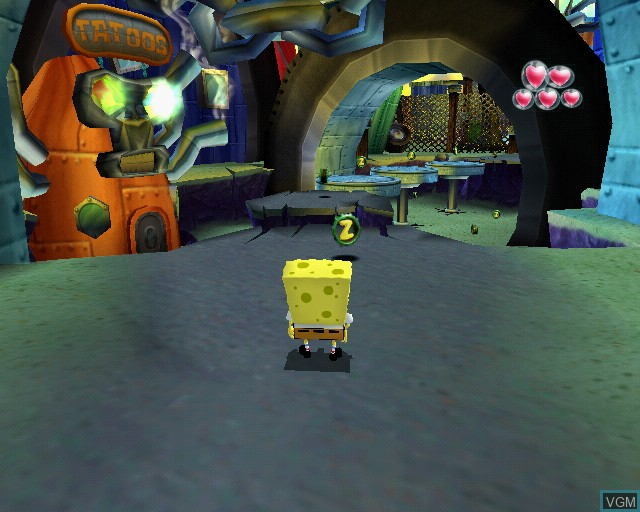 In-game screen of the game SpongeBob SquarePants - Creature from the Krusty Krab on Sony Playstation 2