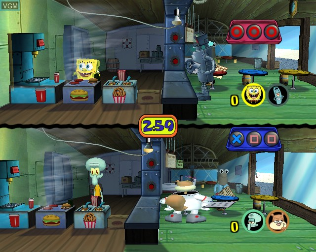 In-game screen of the game SpongeBob SquarePants - Lights, Camera, Pants! on Sony Playstation 2