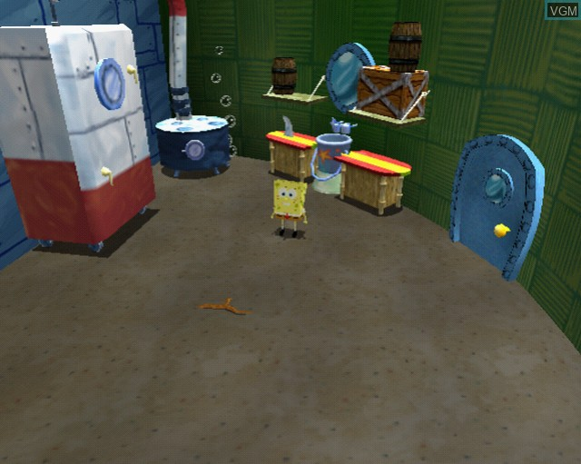 In-game screen of the game SpongeBob Squarepants - Revenge of the Flying Dutchman on Sony Playstation 2