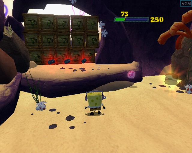 In-game screen of the game SpongeBob SquarePants Movie, The on Sony Playstation 2