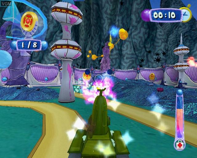 In-game screen of the game SpongeBob's Atlantis SquarePantis on Sony Playstation 2