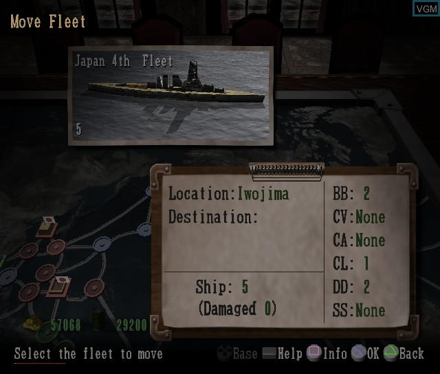 In-game screen of the game P.T.O. IV - Pacific Theater of Operations on Sony Playstation 2