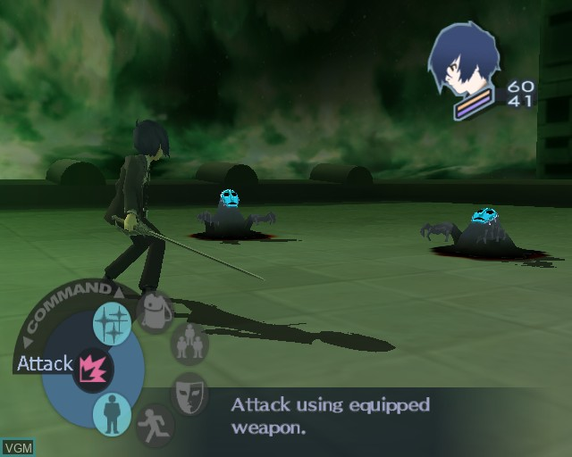 In-game screen of the game Shin Megami Tensei - Persona 3 on Sony Playstation 2