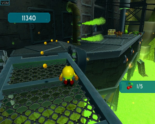 In-game screen of the game Pac-Man World 3 on Sony Playstation 2