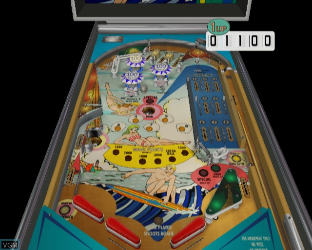 In-game screen of the game Pinball on Sony Playstation 2