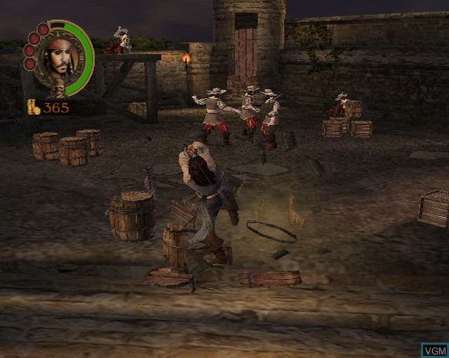 In-game screen of the game Pirates of the Caribbean - The Legend of Jack Sparrow on Sony Playstation 2