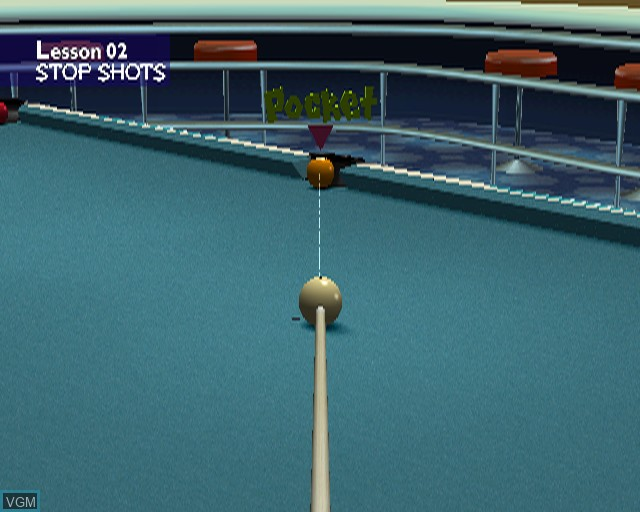 In-game screen of the game Pool Master on Sony Playstation 2