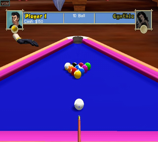 In-game screen of the game Pool Paradise - International Edition on Sony Playstation 2