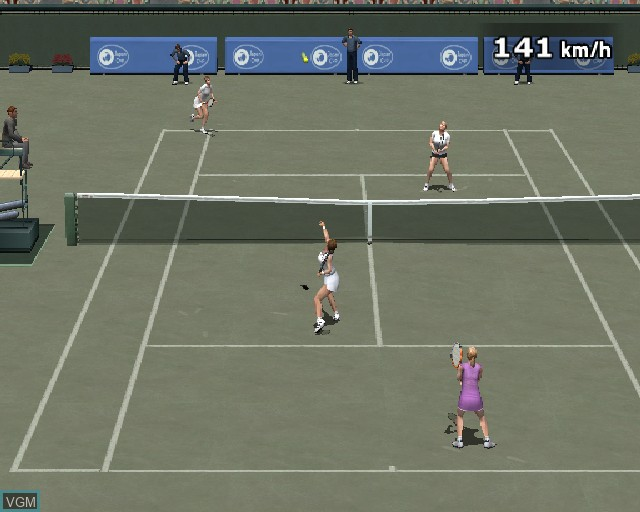 In-game screen of the game Pro Tennis WTA Tour on Sony Playstation 2