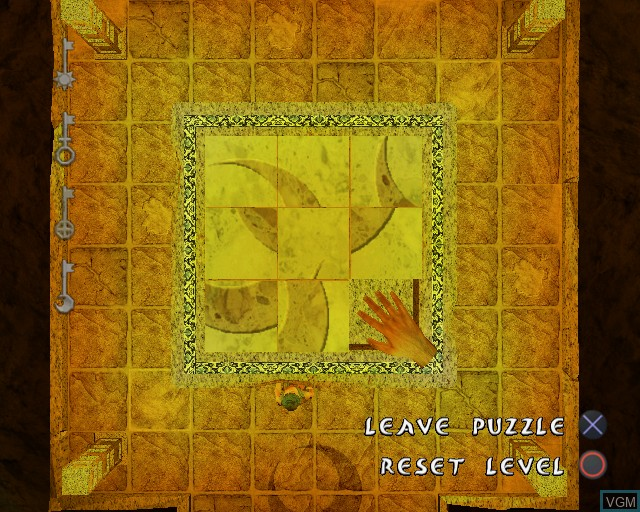 In-game screen of the game Quest for Aladdin's Treasure, The on Sony Playstation 2