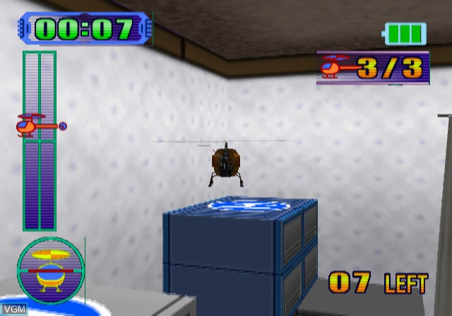 In-game screen of the game Radio Helicopter on Sony Playstation 2