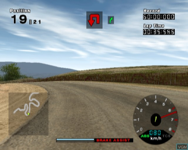 In-game screen of the game R - Racing on Sony Playstation 2
