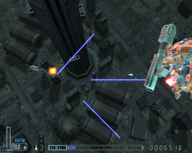 In-game screen of the game R-Type Final on Sony Playstation 2
