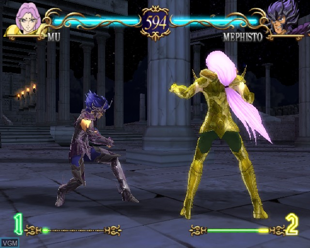 In-game screen of the game Saint Seiya - The Hades on Sony Playstation 2