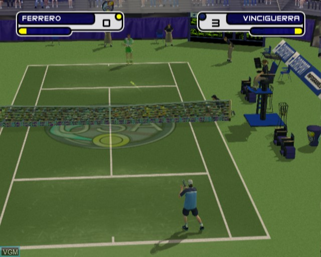 In-game screen of the game Slam Tennis on Sony Playstation 2