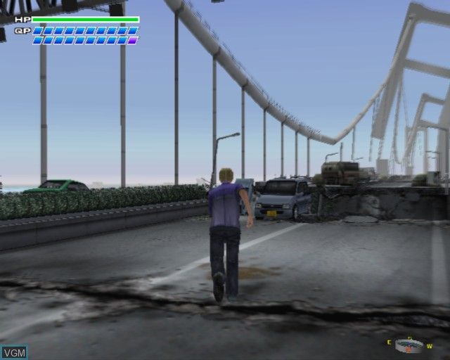 In-game screen of the game S.O.S. - The Final Escape on Sony Playstation 2